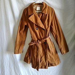 Old Navy dark tan trench coat size medium